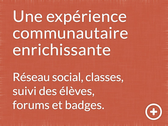 Lemoine Education - classes en ligne - réseau social - badges